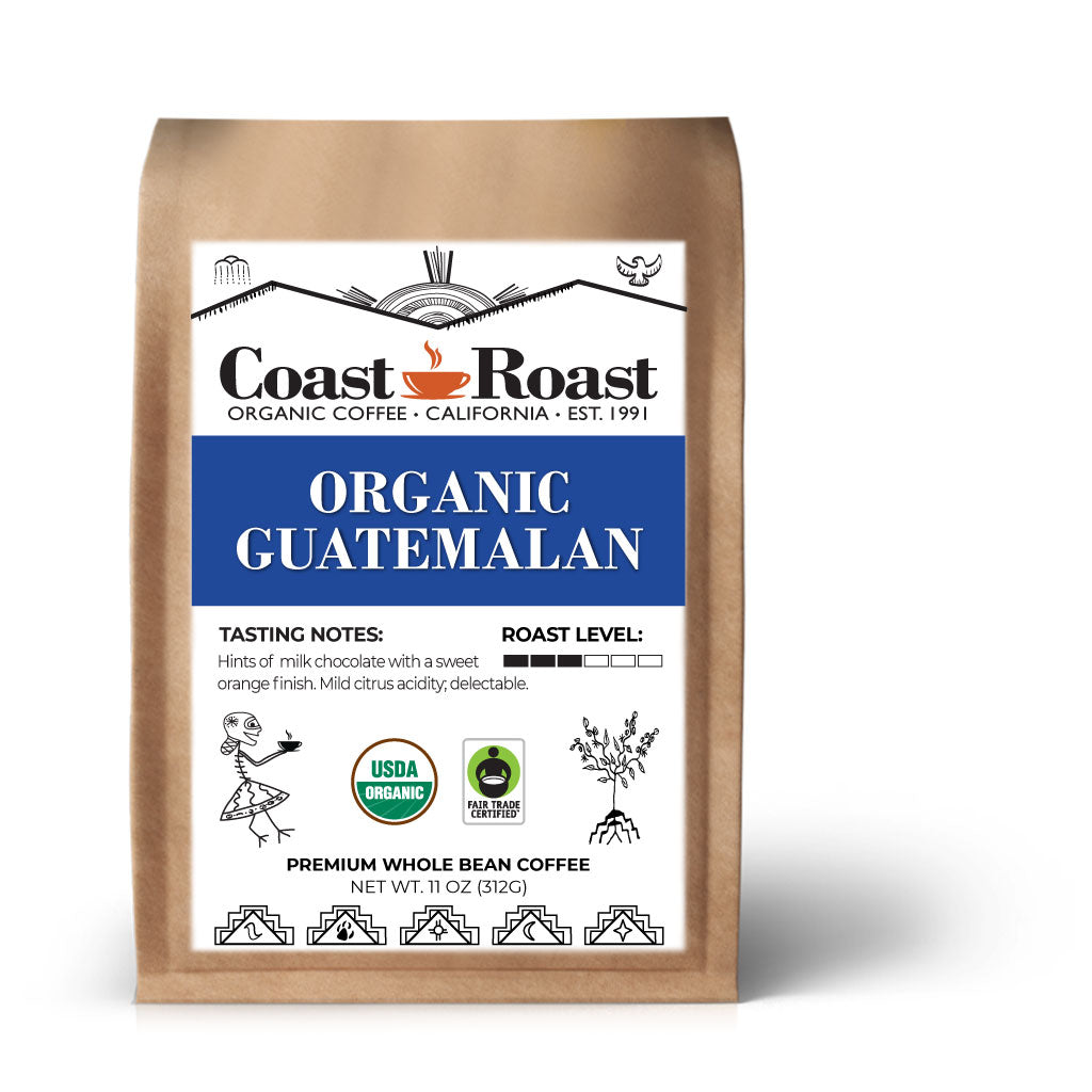 Organic Guatemalan Whole Bean Coffee - Coast Roast Organic Coffee