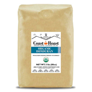 Organic Honduran Whole Bean Coffee Single Origin - Coast Roast Organic Coffee