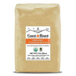 Organic Tomales Blend Whole Bean Coffee - Coast Roast Organic Coffee