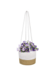 "Cotton & Jute Rope Wall Hanging Planter Up to 8"" Pot Holder"