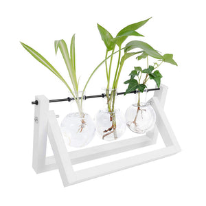 Tabletop Glass Planter White