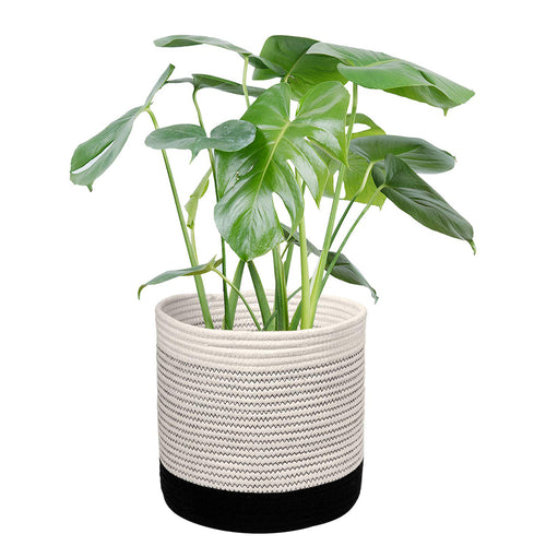 Cotton Rope Plant Basket Indoor Modern Decor