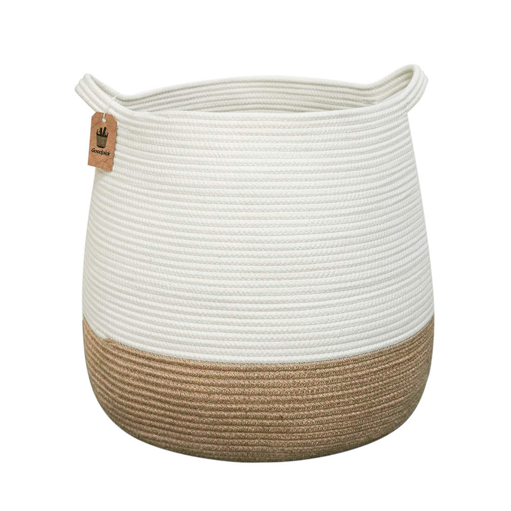 Large Jute Storage Baskets with Handles
