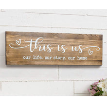 Load image into Gallery viewer, Rustic Wall Mounted Wood Sign