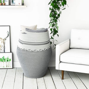 2XL Tall Laundry Hamper Dirty Clothes Laundry Basket White