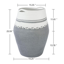 Load image into Gallery viewer, 2XL Tall Laundry Hamper Dirty Clothes Laundry Basket White