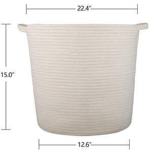 2 Pcs Baby Laundry Baskets with Handle Home Decor Size