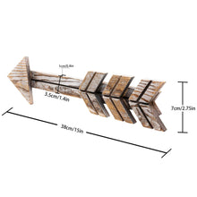 Load image into Gallery viewer, 2 PCs Arrow Rustic Wood Signs for Home Decorative Farmhouse Wall Hanging Decor Timeyard