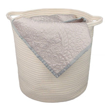 Load image into Gallery viewer, 2 PCs Off  White Laundry Basket with Handles Cotton Rope Soft Woven Floor Basket