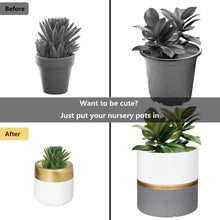 Load image into Gallery viewer, 2 Pcs Ceramic Pots Indoor Home Decor with Drainage Hole Wall Decor