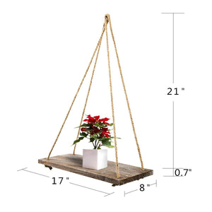 2 Pcs Floating Wood Shelves Rustic Home Wall Decor Size