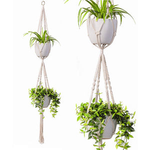 2 Tier Macrame Plant Hanger Modern Boho Home Decor