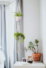 Load image into Gallery viewer, 2 Tier Macrame Plant Hanger Indoor Flower Holder For Bedroom
