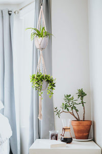 2 Tier Macrame Plant Hanger Indoor Flower Holder For Bedroom