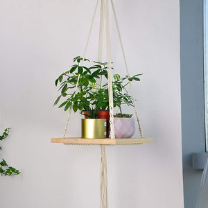 Indoor Plant Hanger Hanging Plant Shelf For Living Room