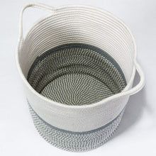 Load image into Gallery viewer, Tall Laundry Basket with Handles For Baby Nursery Room Gray 13.4 x 14.2 x 16.2 in Bottom