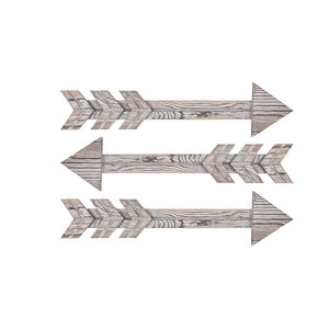 3 PCs Arrow Wall Signs Rustic Bathroom Sign Vintage Farmhouse Decor Wall Pediments Timeyard