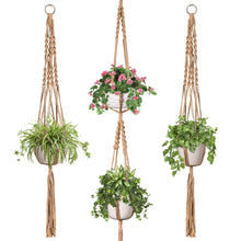 Load image into Gallery viewer, 3 Pcs Jute Handmade Hanging Plant Holders