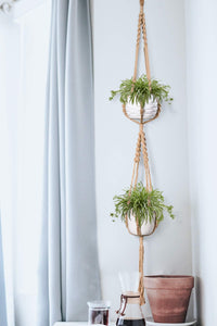3 Pcs Jute Handmade Hanging Plant Holders For Bedroom