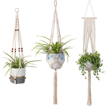 Load image into Gallery viewer, 3 Pcs Rope Plant Hanger in Different Designs Handmade Planter