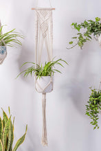 Load image into Gallery viewer, 3 Pcs Rope Plant Hanger in Different Designs Handmade Planter Living Room