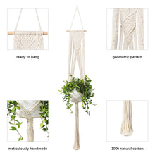 Load image into Gallery viewer, 3 Pcs Rope Plant Hanger in Different Designs Handmade Planter Details