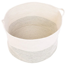 Load image into Gallery viewer, Baby Laundry Basket XXXLarge Cotton Rope Basket Storage Bins White 21.7 x 13.8 in Baskets with handle