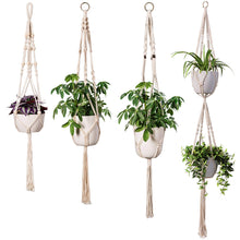 Load image into Gallery viewer, 4 Pcs Macrame Plant Hanger DIY Modern Boho Home Decor