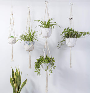 4 Pcs Macrame Plant Hanger DIY Modern Boho Home Decor