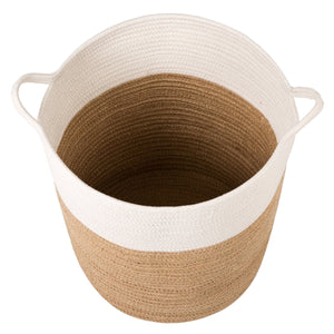 XL Jute Rope Woven Laundry Basket with Handles Baby Hamper Bedroom Storage Timeyard