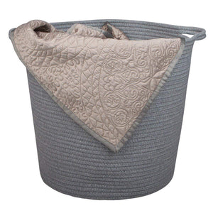 2 Pcs Baby Laundry Baskets with Handle Home Decor grey