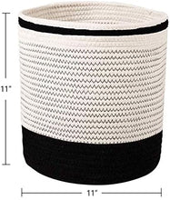 Load image into Gallery viewer, 5 PCs - Each Only 5.99 Cotton Woven Black & White Plant Basket
