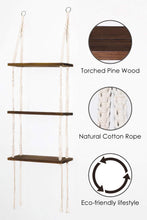 Load image into Gallery viewer, Macrame 3 Tier Shelf Hanging Shelves