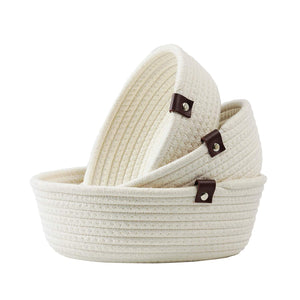 3 Set Cute Round Small Basket
