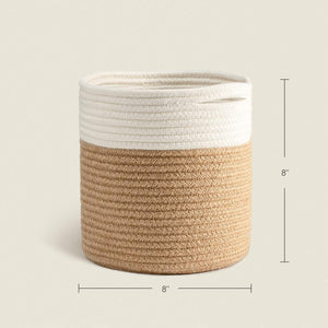 Jute Rope Plant Basket Small Woven Storage Basket