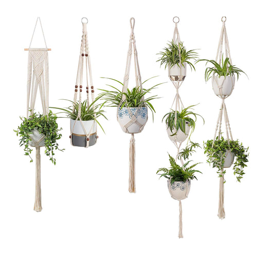 5 Pcs Cotton Rope Hanging Plant Hangers
