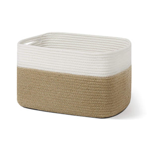 Jute Rectangle Storage Bin Woven Basket