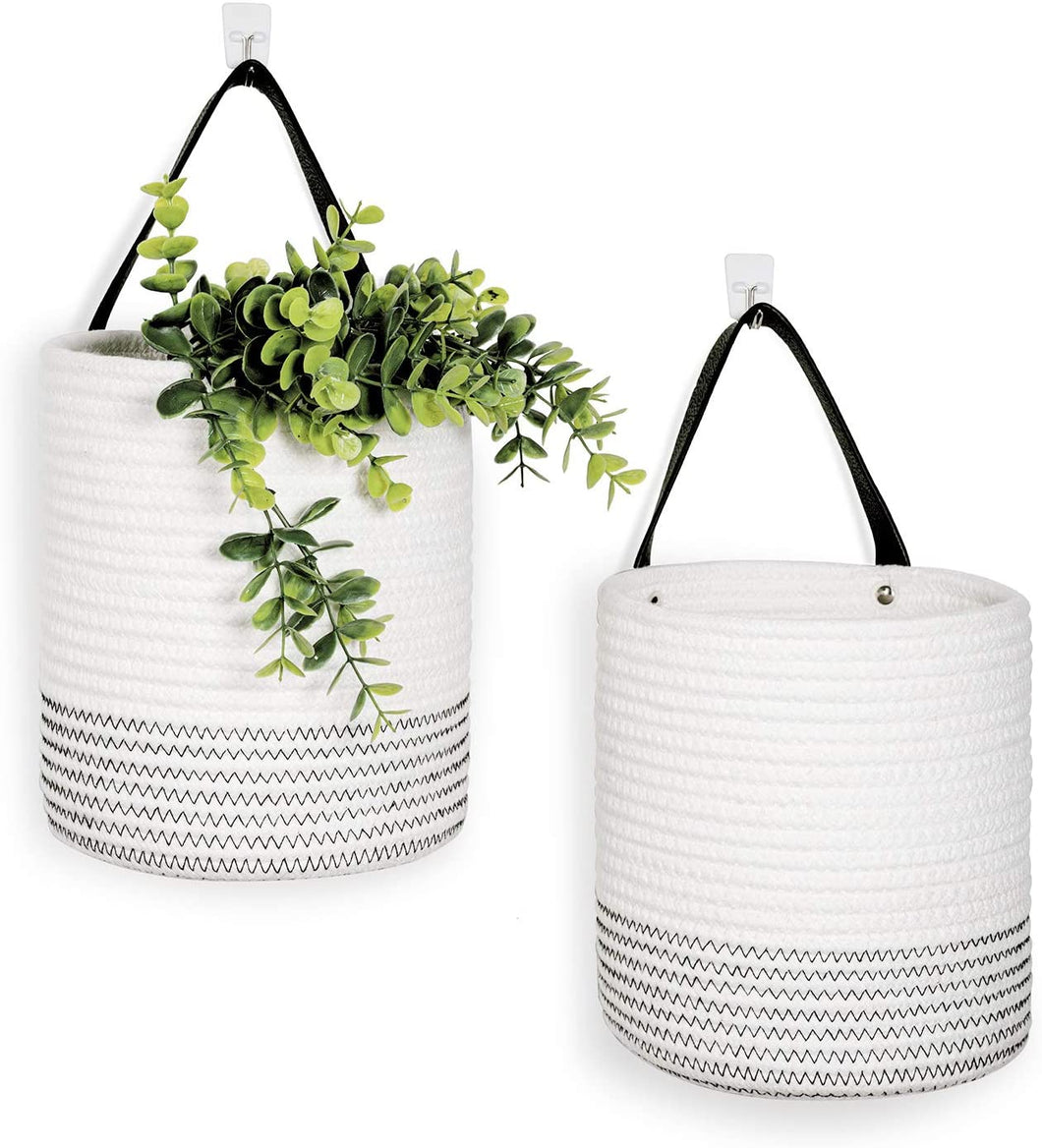 2pack Small Rope Hanging Basket - 7.87