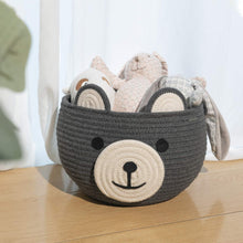 Load image into Gallery viewer, Cute Bear Round Basket