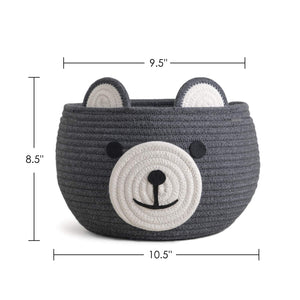 Cute Bear Round Basket
