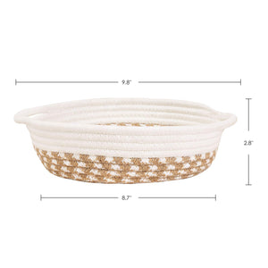 2 Pack Small Cotton Rope Woven Basket