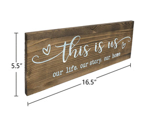 Rustic Wall Mounted Wood Sign