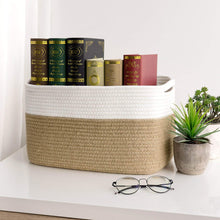 Load image into Gallery viewer, Jute Rectangle Storage Bin Woven Basket