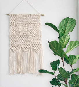 Macrame Wall Hanging Bedroom Wall Decor Beige For Living Room