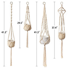 Load image into Gallery viewer, Boho Macrame Plant Hangers Set of 4