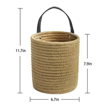 Load image into Gallery viewer, Small Jute Rope Hanging Basket Size