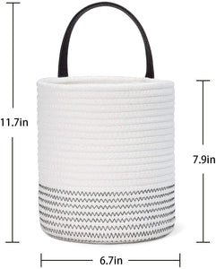 "2pack Small Rope Hanging Basket - 7.87"" x 7"""