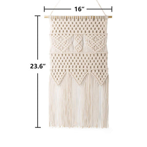 Macrame Wall Hanging Bedroom Wall Decor Beige Size