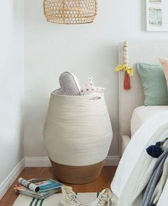 Tall Wicker Hamper Laundry Basket