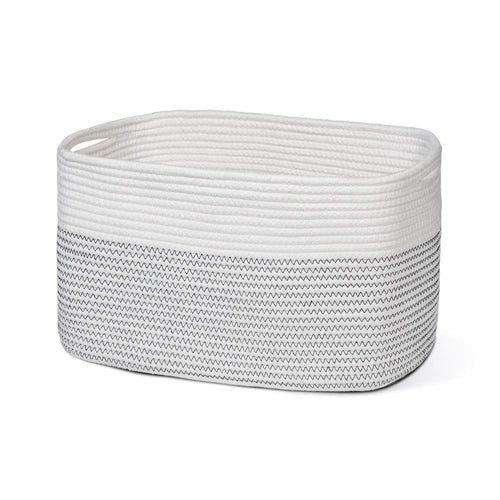 Cotton Rope Storage Basket Rectangle Storage Bin